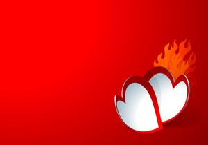 Paper Hearts. Vector.