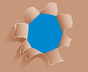Paper Hole. Vector Illustration.