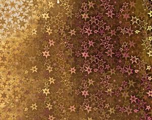 Paper Hologram Stars Gold