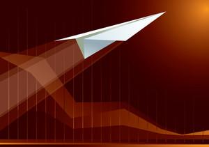 Paper Plane. Vector.