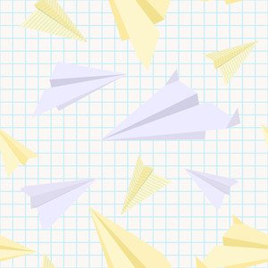 Paper Planes Seamless Texture