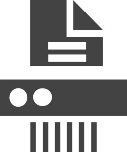 Paper Shredder Machine Glyph Icon