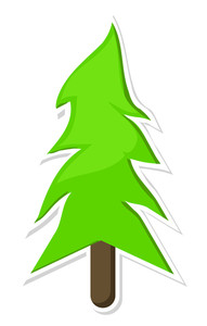 Paper Sticker Christmas Tree
