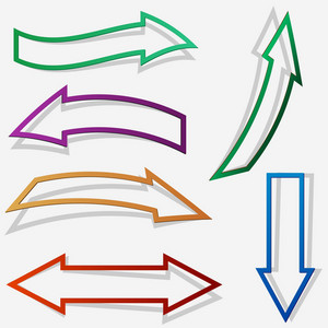 Paper Style Arrows
