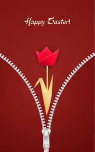 Paper Tulip Vector Illustration