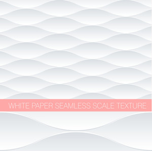 Paper White Fish Scale Seamless Pattern. Minimalist Vector Background.