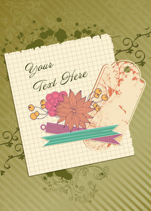 Paper With Flowers Vector Illustration