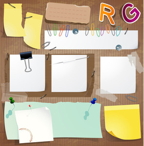 Papers, Stickers, Labels And Tags. Vector Design Elements Set.