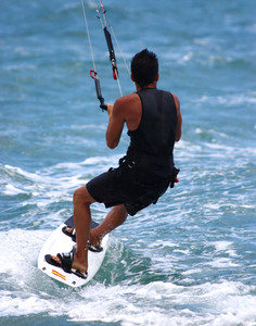 Para Surfing On The Ocean