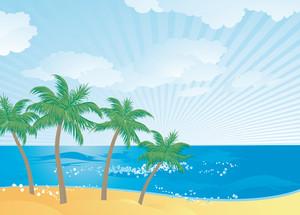 Paradise Island. Vector.