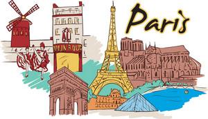 Paris Vector Doodle