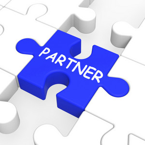Partner Puzzle Showing Partnership And Teamwork