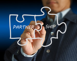 Partnership Written Puzzle Pieces