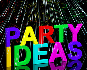 Party Ideas Words Showing Birthday Or Anniversary Celebration Suggestions