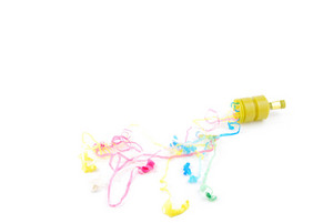Party Poppers On White