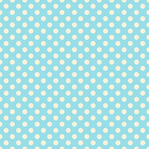 Pastel Blue Polka Dots Pattern