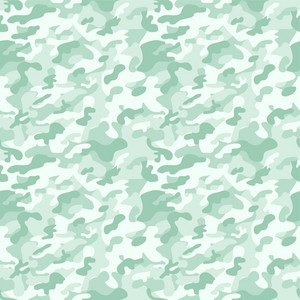 Pastel Green Camouflage Pattern