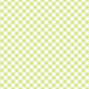 Pastel Green Diagonal Gingham Pattern