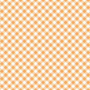 Pastel Orange Diagonal Gingham Pattern