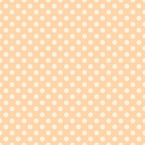 Pastel Orange Polka Dots Pattern