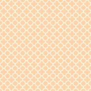Pastel Orange Quatrefoil Pattern