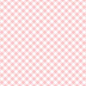 Pastel Pink Diagonal Gingham Pattern