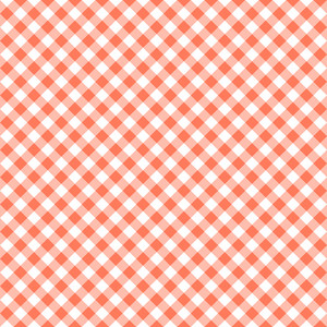 Pastel Red Diagonal Gingham Pattern