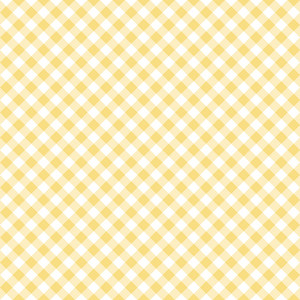 Pastel Yellow Diagonal Gingham Pattern