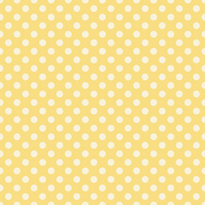 Pastel Yellow Polka Dots Pattern