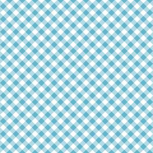 Pastel Blue Diagonal Gingham Pattern
