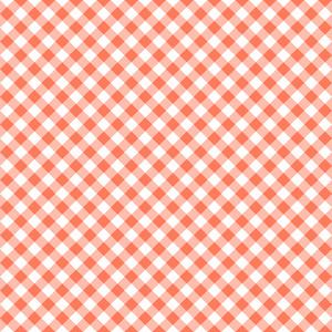 Pastel Red Diagonal Gingham Pattern