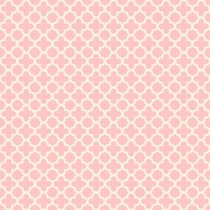 Pastel Pink Quatrefoil Pattern
