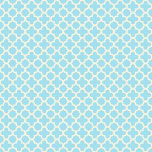 Pastel Blue Quatrefoil Pattern