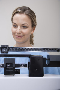 Patient checking weight