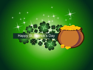 Patrick Day Background With Earthenware