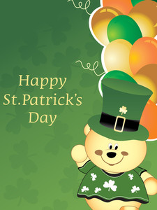 Patrick Day Background With Leprechaun