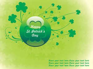 Patrick's Day  Clover Background With Ball 17 March