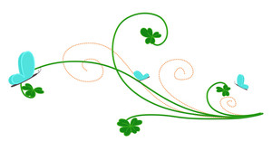 Patrick's Day Floral Background