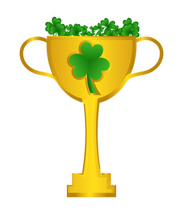 Patrick's Day Golden Trophy