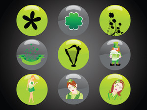 Patrick's Day Icon Set 17 March