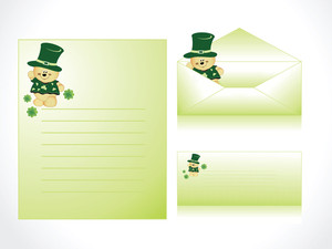 Patrick's  Day Letterhead With Cartoon