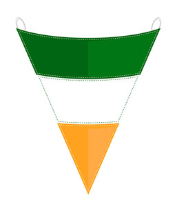Patrick's Day Paper Flag Element