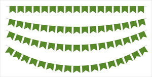 Patrick's Day Paper Flags Elements