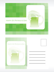 Patrick's Day Postcard For Celebration