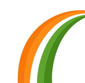 Patrick's Day Rainbow Design Element