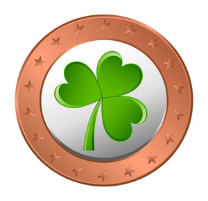 Patrick's Day Shamrock Coin
