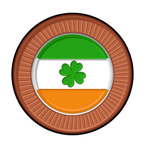 Patrick's Day Shamrock Retro Badge