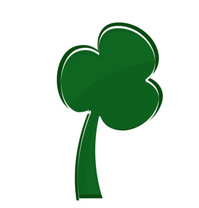 Patrick's Day Shamrock Shape