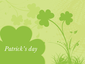 Patrick's Day With Clover Accent 17 March