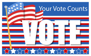 Patriotic  Election Day Vector Illustration Your Vote Counts